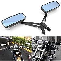 Par de 8mm/10mm ajustables espejos retrovisores motocicleta para moto Bobber Cruiser Chopper