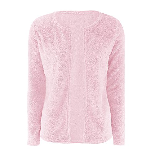 Giacche a Donna Autunno Sweater Maglieria Cappotti Manica Lunga Di Colore Solido Cardigan Maglione Felpa Rosa