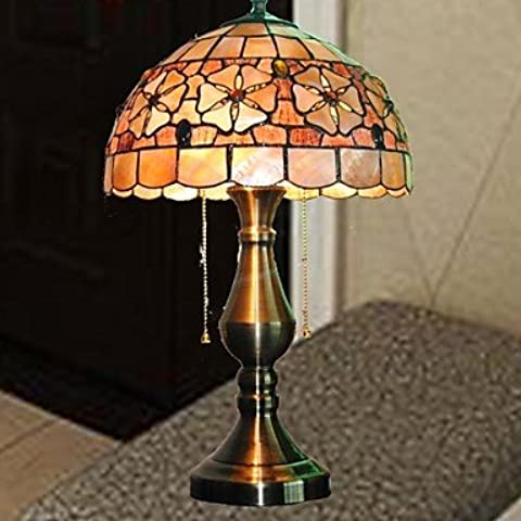 Shell flower design lampada da tavolo tiffany materiale 12