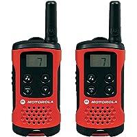 Motorola TLKR T40 PMR Funkgerät mit LC-Display, 2-er pack, rot