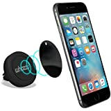 Phone Holder Magnetic Car Mount for Air Vent Moneyback Guarantee works with all Mobile Phones Iphone 6 / 6 plus / 5 / 5s / 5c / 4 / 4s , Samsung Galaxy S6 / S5 / S4 / Note 4 / 3 and all Other Smartphones & GPS Devices - Whozzu's Best in Car Phone Holders + Mounts your Phone Quickly and Securely & Safely in an Instant with One Hand