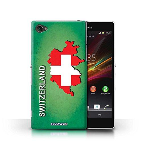 Kobalt® Imprimé Etui / Coque pour Sony Xperia Z1 Compact / Tchèque/Czechian conception / Série Drapeau Pays Suisse/Swiss