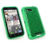Emartbuy Motorola Defy Kreisen Muster Gel Skin Cover / Case Grün