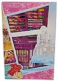 Disney Princess Coloring Folder and Stationery Set - 66 Pieces (Multicolour)