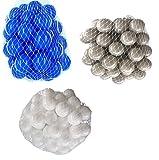 300 Bälle für Bällebad gemischt mix mit weiß, grau und blau