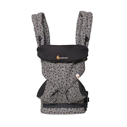 Ergobaby Babytrage bis 20kg, Kollektion 360 4-Positionen Baby und Kindertrage, Ergonomische Tragetasche für Rücken und Bauch