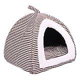 Yuncai Weich Haustiere Nest Faltbar Plüsch Bequem Bett Haus für Hunde Katzen Zwinger Jurten Kaffee S