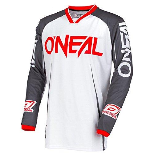 locker Motocross Jersey Trikot MX Enduro Offroad Motorrad Quad Cross Erwachsene, 0030A, Farbe Weiß, Größe XL ()