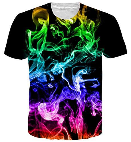 Goodstoworld 3d personalizzati stampa t shirt per mens womens estate casual manica corta t shirt tee top l