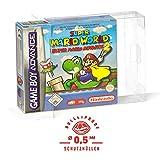 5 Klarsicht Schutzhüllen GAME BOY ADVANCE [5 x 0,5MM [ARMOURED] GAME BOY OVP] Spiele Originalverpackung Passgenau Glasklar -