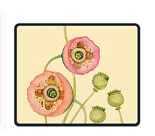 Individuelle Love Herz Gaming Maus Pad Ausladung Rutschfestem Gummi Robuste Computer-Schreibtisch Stationery Zubehör Mauspad–24,9x 30cm, Watercolor floral20, 9.8 X 11.8 inch