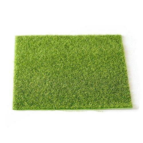 UxradG Kunstrasen Fake Rasen Gras, Garten Gras Rasen Moos Miniatur-Craft, Fairy Puppenhaus Home Garten Decor, 30*30cm