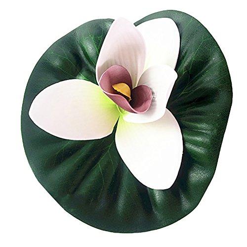collectsound Simulation Lotus Künstliche Blumen Banquet Blumen Home Zimmer Decor Stage Prop (Echte Live-aquarium Pflanzen)