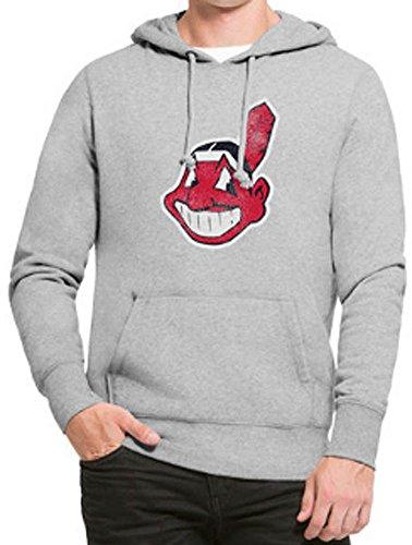 '47 Brand Cleveland Indians Knockaround Hoodie MLB Sweatshirt Grau, XL - Cleveland Indians