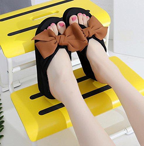 pengweiDamen Sommer Sandalen Hang Ferse Flip Fashion Clip Fu? Strand Hausschuhe 3
