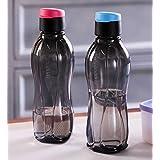 Tupperware Flip Top Bottles, 310ml, 2 Pieces, Black