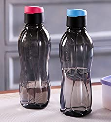 Tupperware Flip Top Bottles, 310ml (2 Pieces, Black)