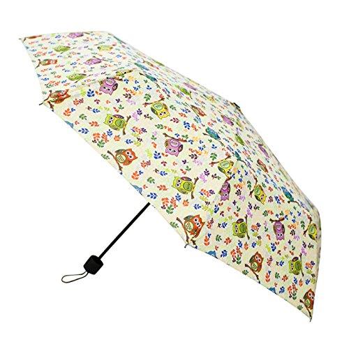 Signare Mode parapluie poignée droite pour les femmes dans la conception de chouette