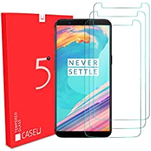 CASE U Crystal Clear Hd Ultra Screen Protector for Oneplus 5T (Pack of 3, Transparent)
