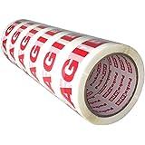 Packatape® - 6 Rollen 48mm x 66m Fragile Paket-Klebeband für Päckchen und Kisten. Mit diesem 6er Pack hochleistungs-Klebeband erwerben sie ein sicheres, klebestarkes Verschlussmaterial für ihre Pakete auf das sie sich verlassen können.