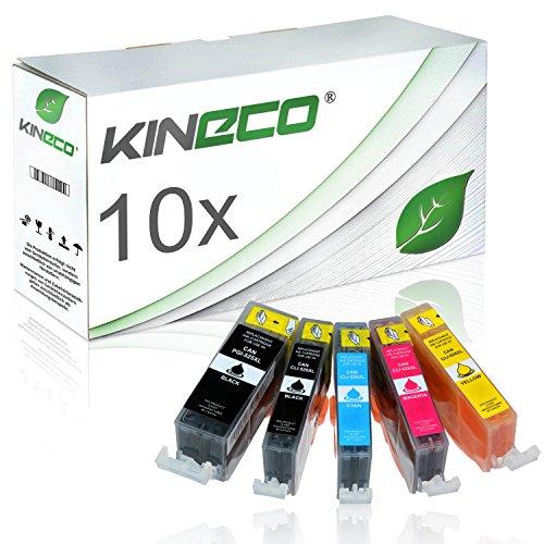 Preisvergleich Produktbild 10 Tintenpatronen kompatibel zu Canon PGI-525 CLI-526 PGI525/CLI526 für Canon Pixma MG5350, Pixma iP4950, Pixma MG5250 - Schwarz je 20ml, Color je 10ml