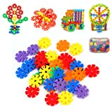 #4: Multi-Color Thick Snowflakes Model Building Block Creative Educational Toy for Kids (150 PCS)