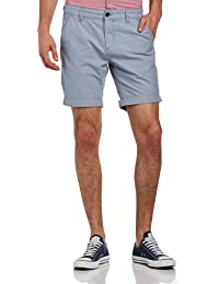 SELECTED HOMME Herren Shorts Three Paris Light Blue Stripe Shorts H