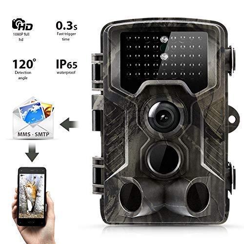 """3G Wildkamera Suntek 16MP 1080P Full HD Jagdkamera Infrarote 24m 42 LEDs Nachtsicht Bewegungsmelder 120 ° Weitwinkelobjektiv IP65 Wasserdicht 2.0\"""" LCD, Schwarz-Weiß-Nachtbilder Fotofalle Trail Camera"""