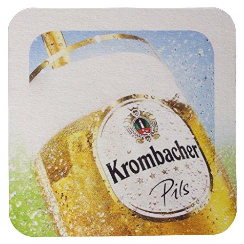 Krombacher Bierdeckel Pils Untersetzer Bier Glas Gläser Bierfilz Pappdeckel Party Bar Theke Tresen Deko Motiv Design (Eine Perle der Natur)