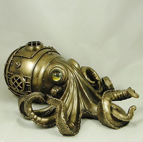 Estatua de pulpo mecánico
