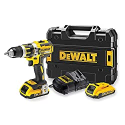 Dewalt DCD795D2-QW DCD795D2 Schlagbohrschrauber, 360 W, 18 V, Schwarz, Gelb