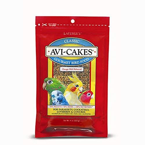 Avi-Cakes Lafeber Classic Gourment Bird Food 8 oz | Nutritious Foraging Fun -