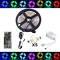 Led Strip Fairy Light Kit 5050 5M 150 Leds RGB + 44 Key Remote Controller + 12V 3A UK Charger - low-cost UK light store.