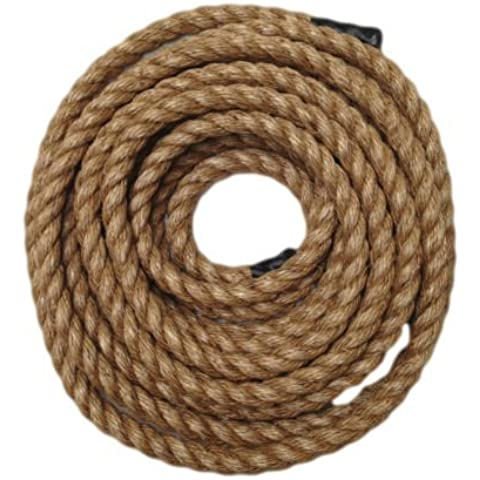 RopeServices UK 15 Metres X 20Mm Grade 1 Natural 3 Strand Manila Rope,Gardens,Decking,Diy by RopeServices UK