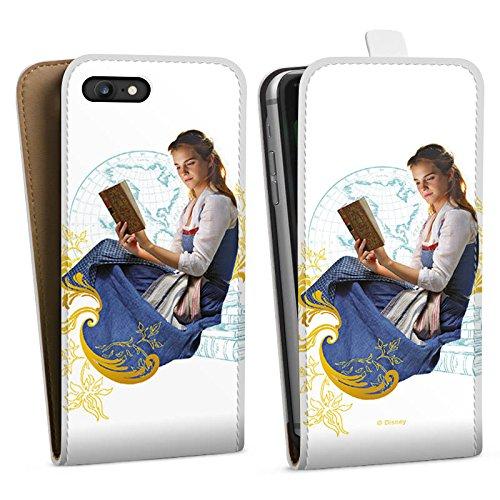 Apple iPhone X Silikon Hülle Case Schutzhülle Die Schöne und das Biest Belle Disney Prinzessin Downflip Tasche weiß