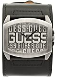 Guess Herren-Armbanduhr Analog Quarz Leder W0360G1