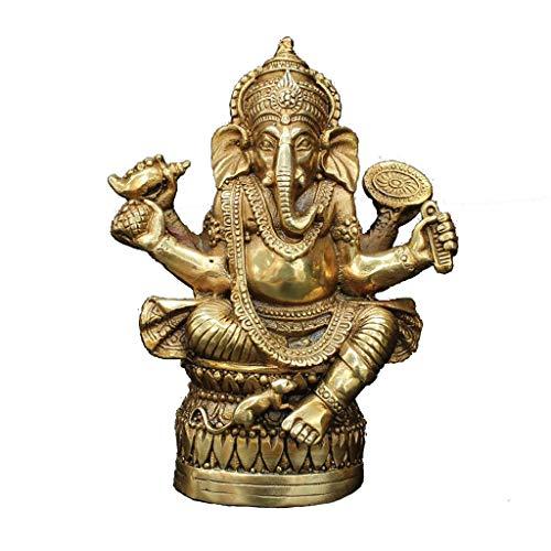 Zfggd Tibetischer Buddhismus Messing Ganesha Ganapati Ganesh Lord God Elephant Buddha Statue