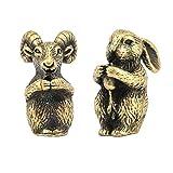 B Blesiya Statua Forma Capra Coniglio Incenso Figurina Animale Zodiaco Segno Decorazione
