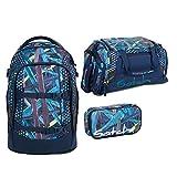 satch pack Splashy Lazer 3er Set Rucksack, Sporttasche & Schlamperbox