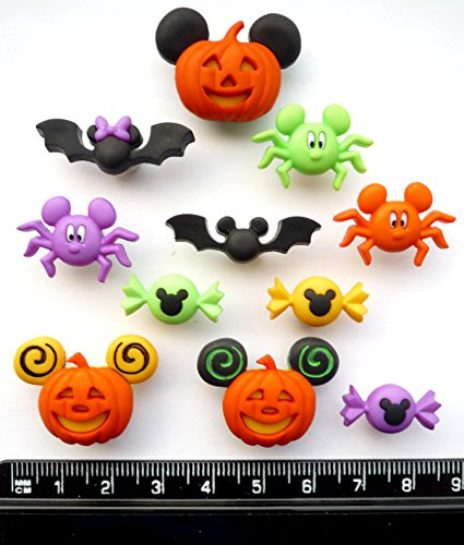 Disney Mickey & Minnie Halloween – Neuheit Craft Tasten & Verzierungen von Kleid IT UP (Mickey Halloween-film)