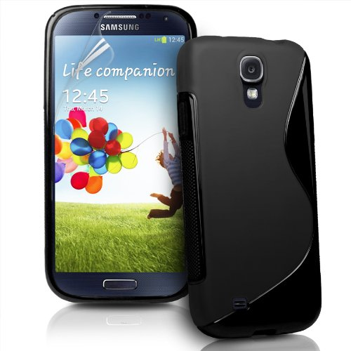 Cablesetc S Line TPU Soft Silicon Gel Back Case Cover For Samsung Galaxy S4 i9500 - Black