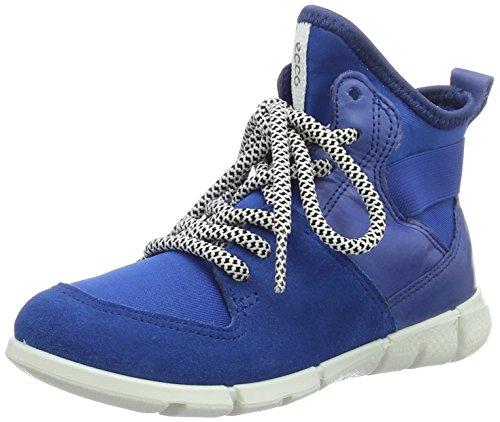 Ecco Intrinsic, Sneakers Hautes Garçon Bleu (50281Bermuda Blue/Cobalt/Bermuda Blue)