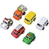 As The Picture : Hot 6 Pieces Spring Power Mini Pull Back Car Model Kit Set Toddlers Model Car Birthday Christmas Gift For Kids Wholesale
