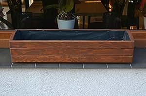 Sottovasi in legno per piante, ideali per giardino, balcone e terrazzo, già montati, colore: Marrone scuro