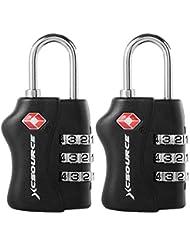 2 pezzi TSA sicurezza a 3 cifre di combinazione della valigia bagagli bag Codice blocco lucchetto XC303