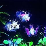 EgBert Resplandor En El Oscuro Acuario Artificial Lionfish Ornamento Peces Tanque De Medusa Decoraciones - Verde