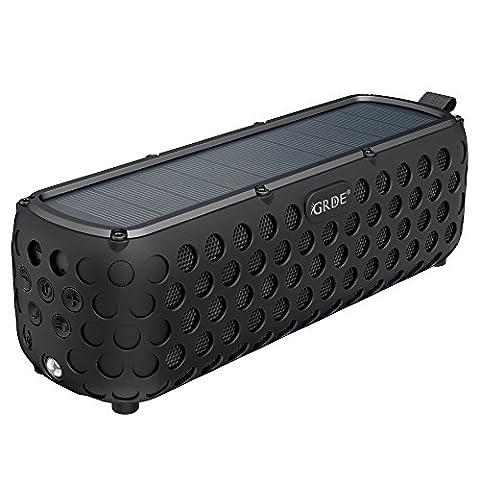 Enceinte Stéréo Sans Fil Bluetooth V4.0 Barre de Son Portable, CSR Chip Haut Parleur Autonome 30Heures Environ IP65 Pour BBQ, Camping, Jardin Repas etc
