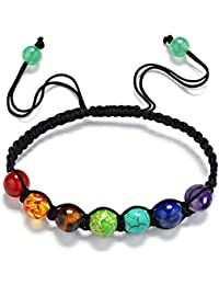 Mainbead - Pulsera Reiki con perlas de los 7 Chakras de colores del arcoíris