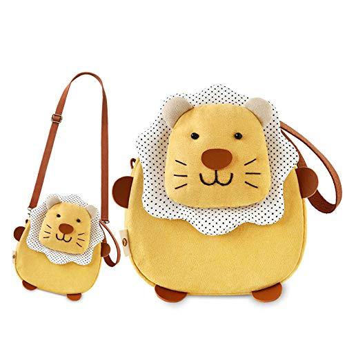 SAOGA Bingo Kaninchen Satchel Korean Student Cartoon niedlich Münztüte kleine Tasche weibliche Tasche Umhängetasche Stoff Handytasche, Little Lion Satchel - Erde gelb
