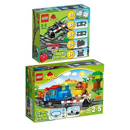 LEGO DUPLO 2er Set 10810 10506 Schiebezug + Eisenbahn Zubehör Set